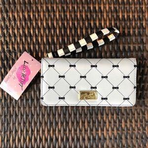 Betsey Johnson wallet wristlet clutch bow Haley